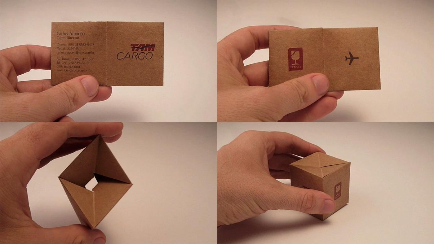 Tarjeta de presentación y BTL: TAM Cargo - luisMARAM