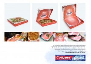 Alianza de marketing entre una pizzería y Colgate