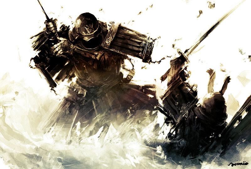 Resultado de imagen de samurai atacando