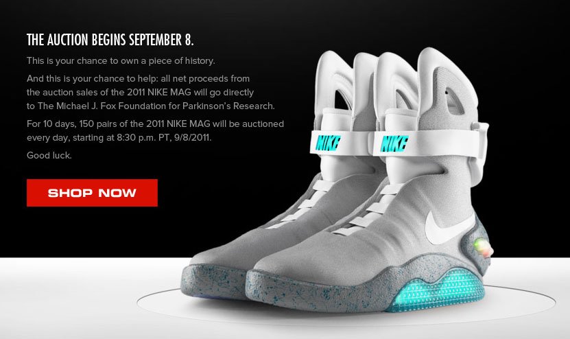 back to the future nike boots subasta
