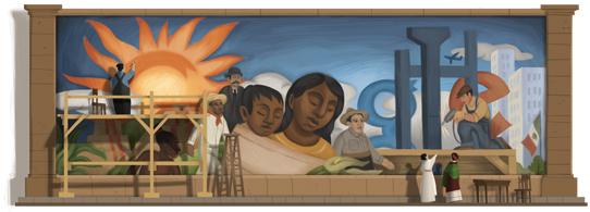 Iron as de la vida un mural de diego rivera en google for Un mural de diego rivera