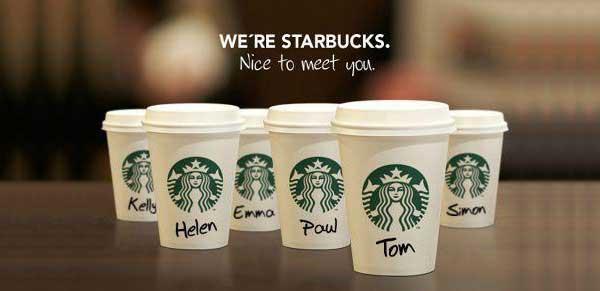 Vasos de Starbucks