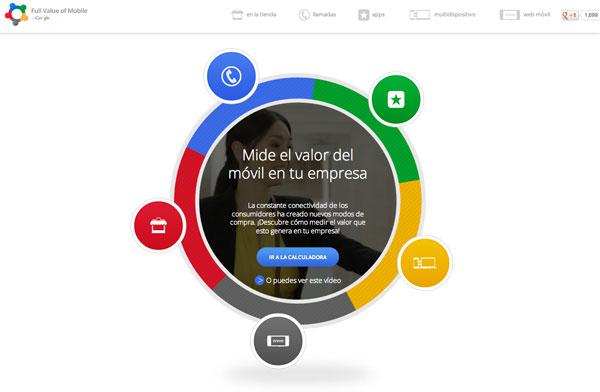 Google presenta Calculadora para descubrir el valor del marketing móvil