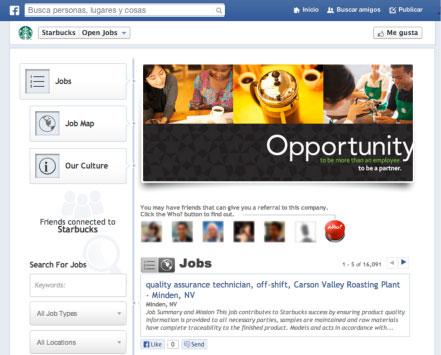 Empleos en Facebook