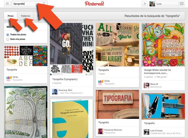 Tablero de Pinterest