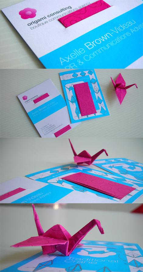 Tarjeta de presentación con origami