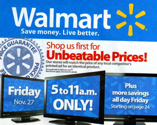 Folleto de Walmart
