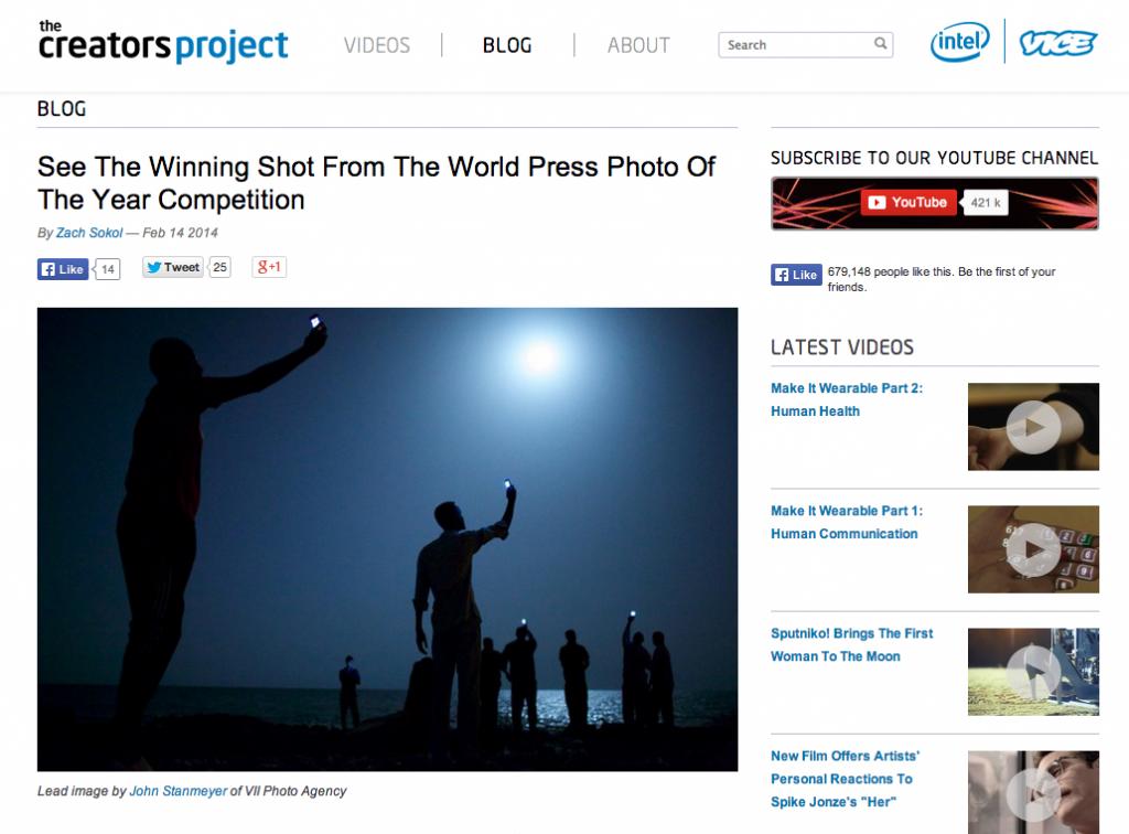 Ejemplo de marketing de contenidos. The Creators Project.