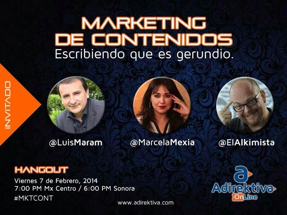 10 preguntas sobre marketing de contenidos. Hangout.