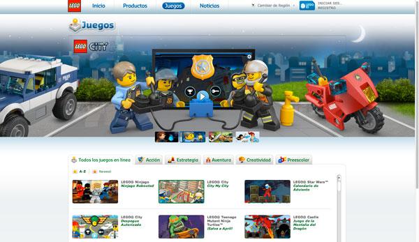 LEGO ejemplo de marketing de contenidos
