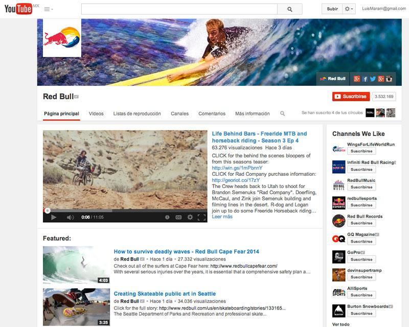 YouTube de Red Bull
