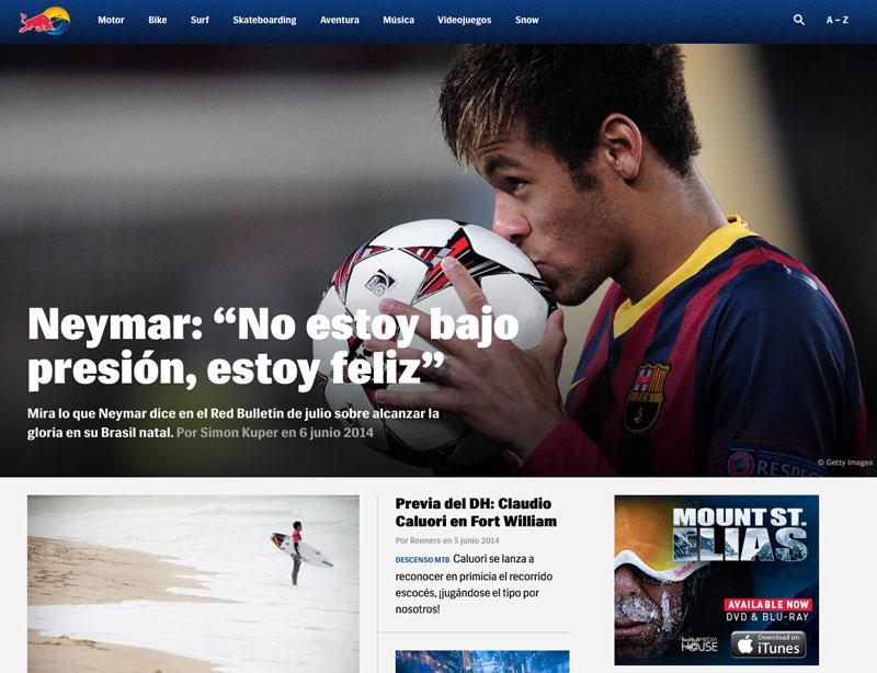 Ejemplo de marketing de contenidos: Red Bull
