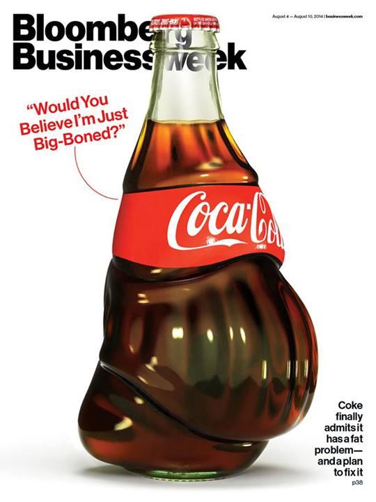 La increíble portada de Bloomberg sobre Coca-Cola y la obesidad