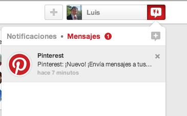 Mensajes en Pinterest