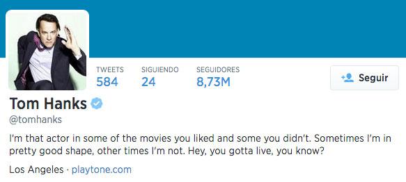 Bio de Twitter