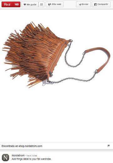 Ejemplo de pin Nordstrom bag