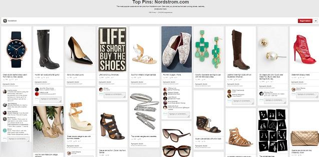 18 cosas a aprender de Nordstrom, caso de éxito en Pinterest