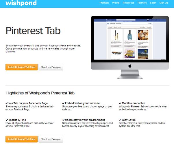 WishPond Pinterest Tab