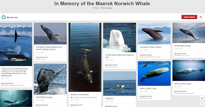 Tablero In Memory of the Maersk Norwich Whale