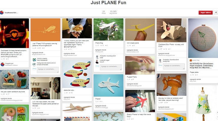 Tablero Just Plane Fun de SouthWest Airlines