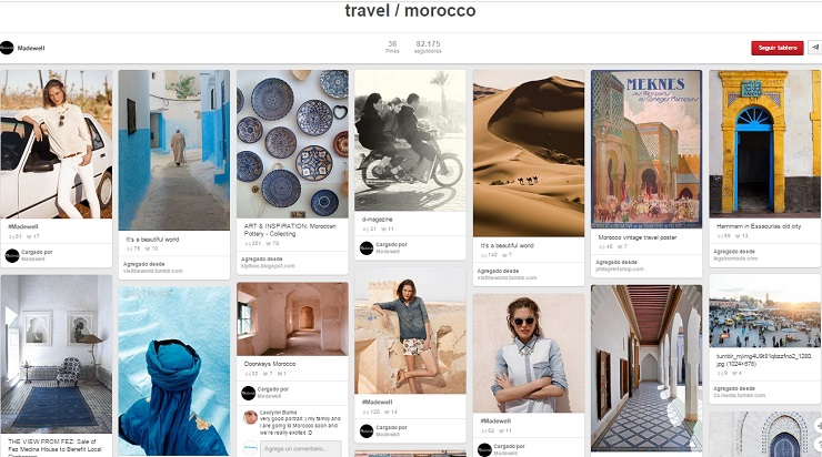 Tablero Travel Morocco de Madewell