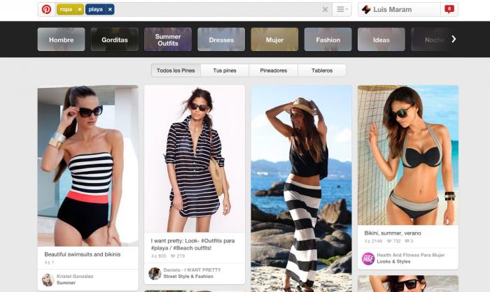 Cómo funciona la búsqueda guiada en Pinterest