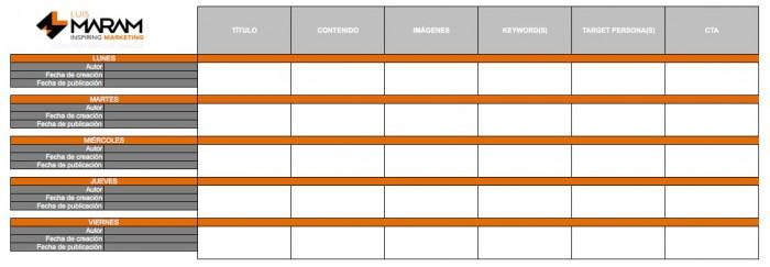 Cómo hacer un calendario de contenidos
