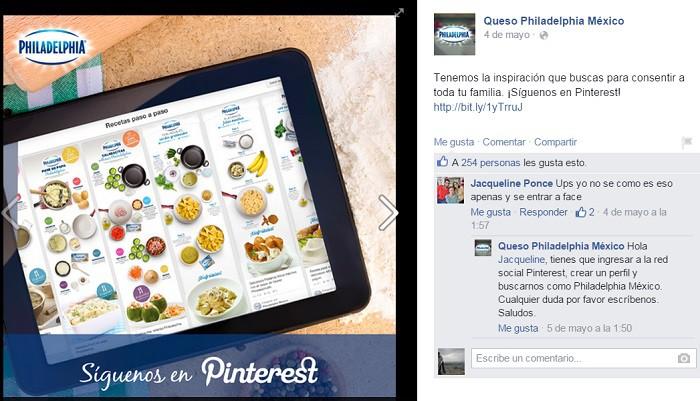 Philadelphia-promocion-cruzada-en-Facebook