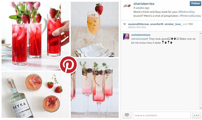 Ejemplo-promocion-cruzada-Instagram-Pinterest-SharisBerries