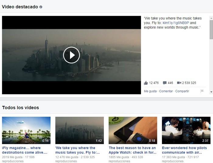 KLM-video-en-Facebook