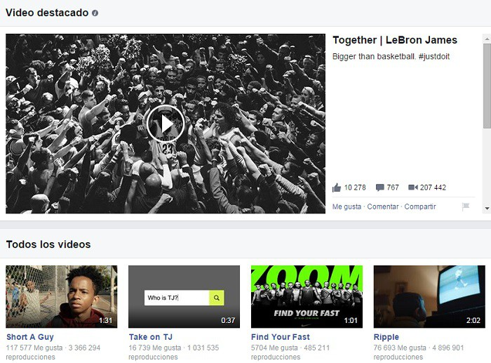 Nike-videos-en-Facebook