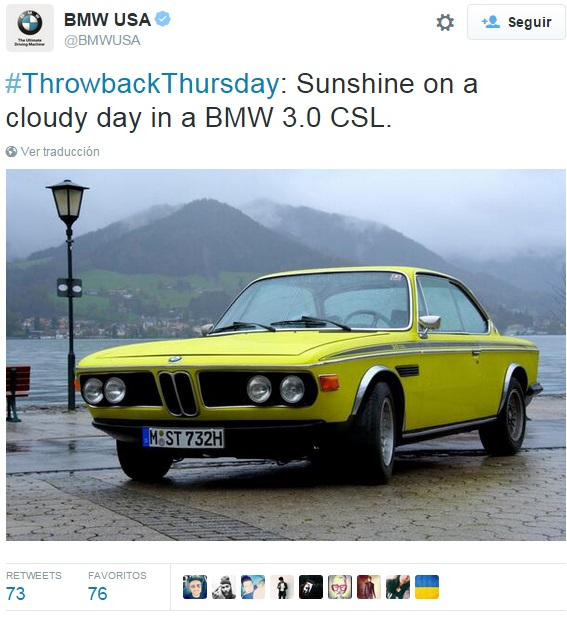 Ejemplo-ThrowbackThursday-BMWUSA-en-Twitter2