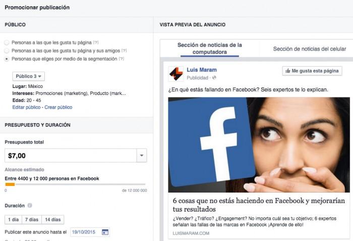 Cómo promocionar contenido en Facebook
