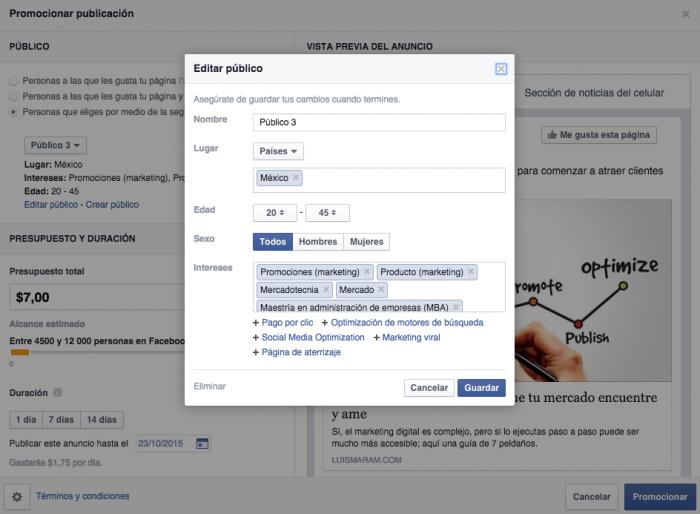 Como segmentar en Facebook