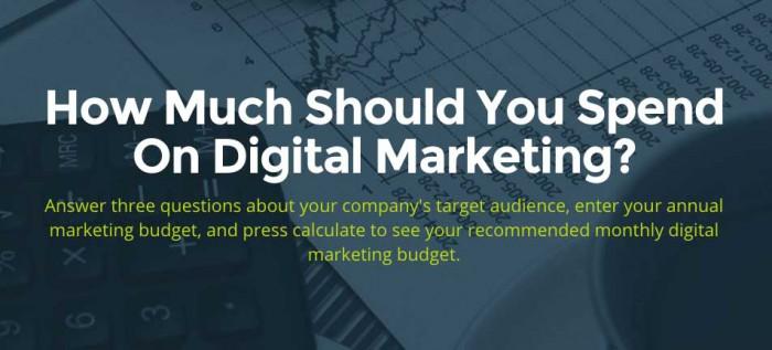 Calcular presupuesto de marketing