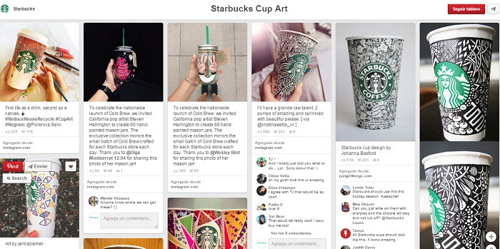 Starbucks-Cup-Art-Tablero-en-Pinterest