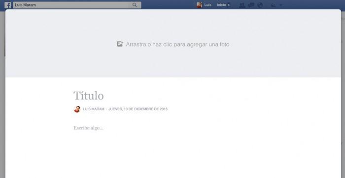 Crear Notas de Facebook