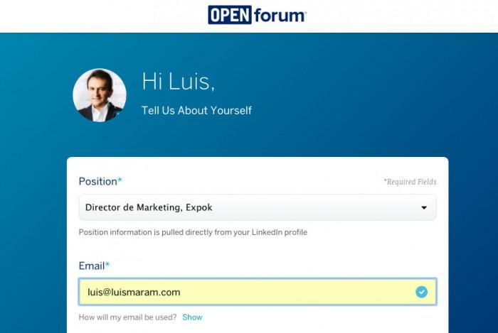 Ejemplo de marketing de contenidos: Open Forum