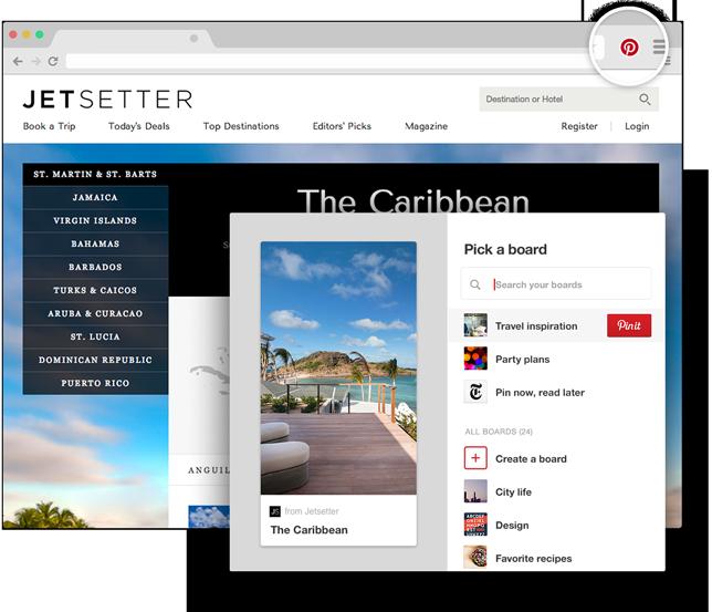 Boton Pinterest Browser
