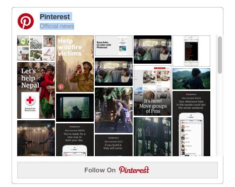 Widget Pinterest tablero