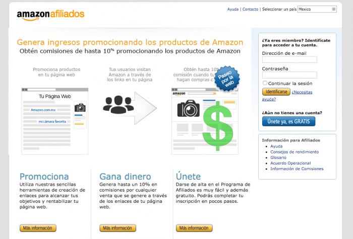 ejemplo marketing de Afiliados Amazon