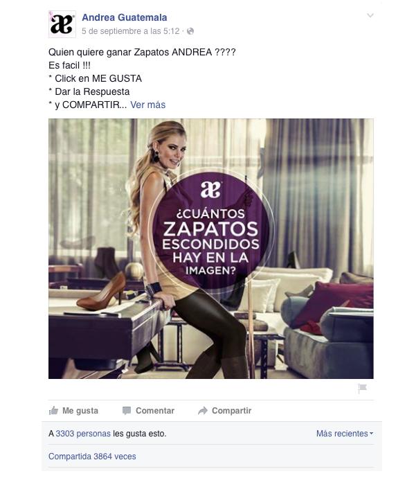 Ejemplo concurso en Facebook
