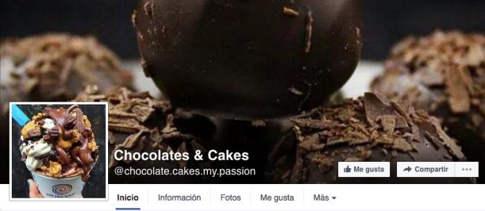 Como aprovechar la portada de Facebook; ejemplo de chocolates