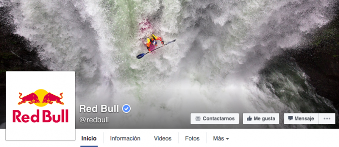 Disenar la portada de Facebook - Red Bull