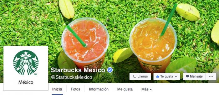 Ejemplos de portada de Facebook - Starbucks
