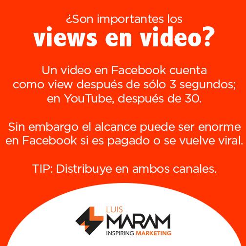 Views de video en Facebook