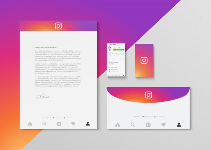 Diseno papeleria redes sociales Instagram