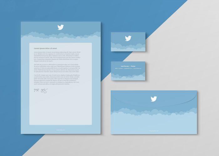 Diseno papeleria redes sociales Twitter