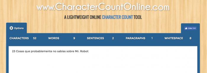 Como contar caracteres