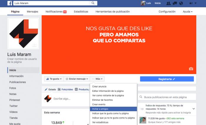 Ganar más seguidores en facebook